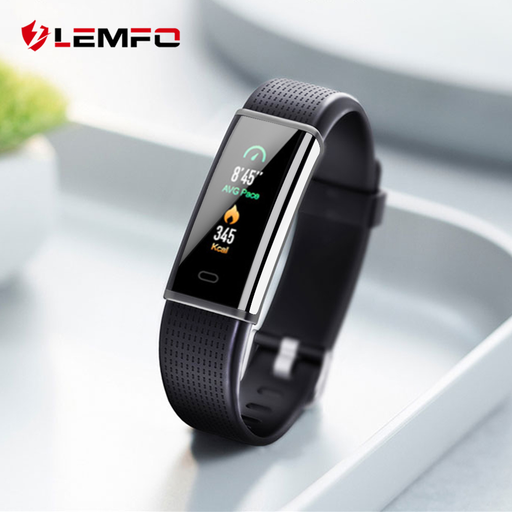 LEMFO 2018 New Smart Band 2 Activity Tracker For Iphone Huawei Xiaomi Mi Android Phone Wristba As Heart Rate Monitor Watch