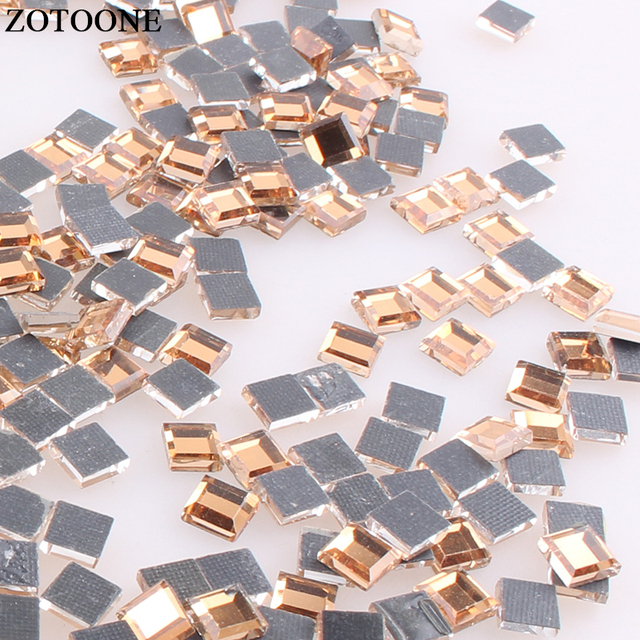 6fe3cb51c5 US $0.41 25% OFF|ZOTOONE Square Rhinestones Flatback Glass Crystals Stones  Hot Fix Nail Rhinestone Iron On Strass Beads For DIY Clothes Crafts E-in ...