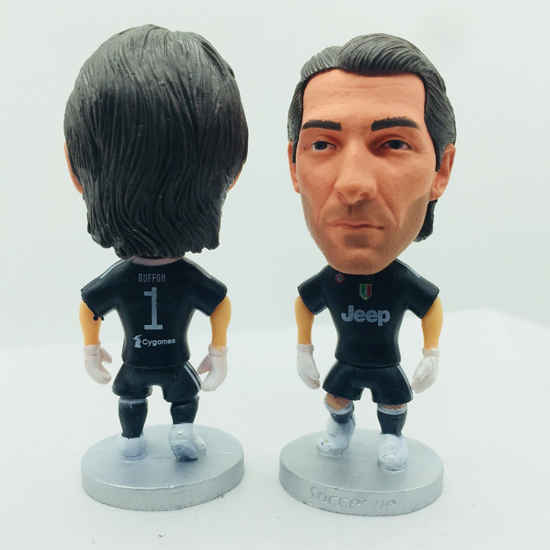 competitive price 34515 7789d Soccerwe Cristiano Ronaldo Doll JUV7# Football Team 2019 Season Home White  Black Kit Striker Figure 2.6 Inches Height Resin