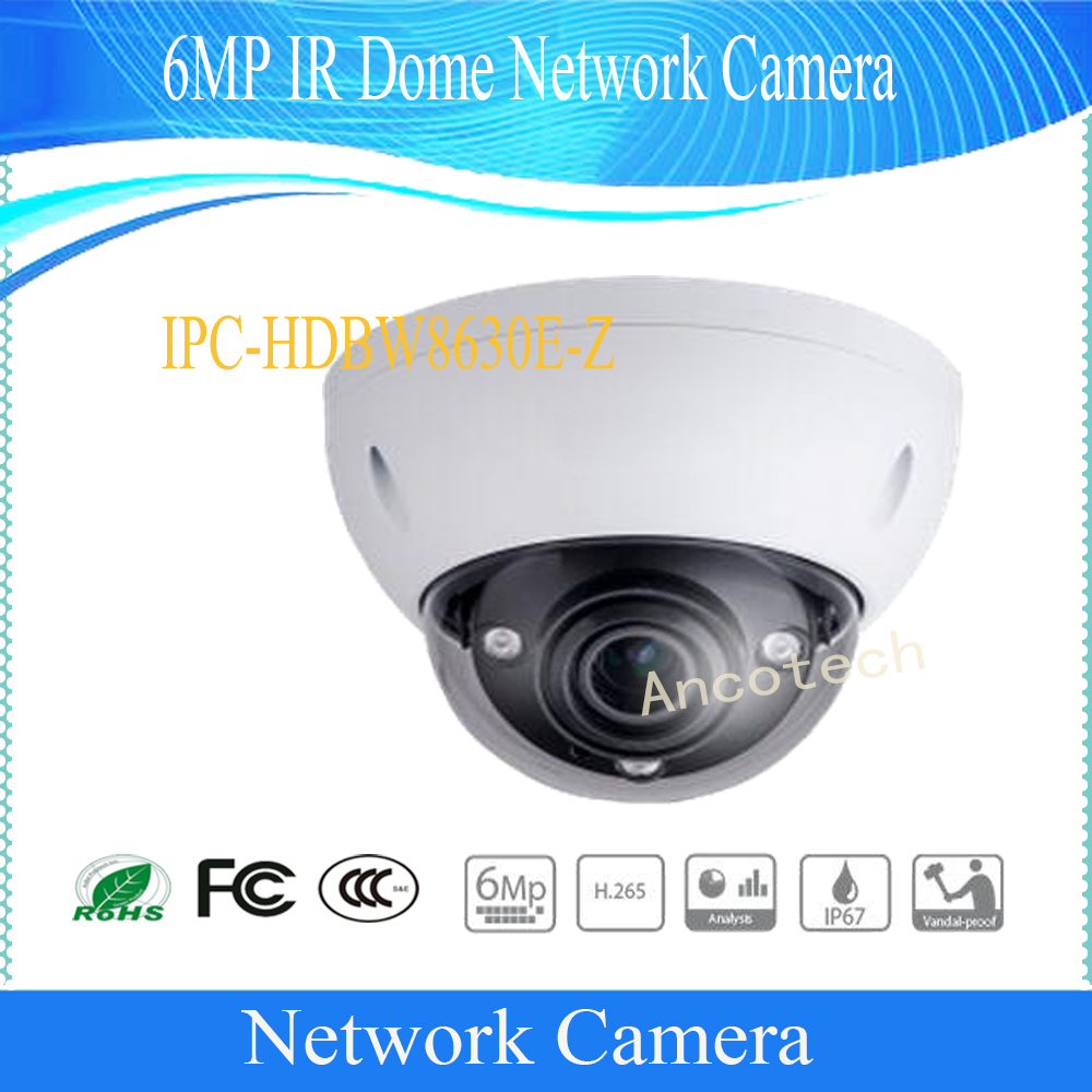 Free Shipping DAHUA Security IP Camera 6MP FULL HD IR Dome Network Camera IP67 IK10 with POE without Logo IPC-HDBW8630E-Z free shipping dh security ip camera 2mp 1080p ir mini dome network camera ip67 ik10 with poe without logo ipc hdbw4231f as