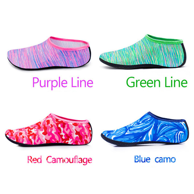 1b2e9bbc78b456 Yoga Summer Water Sports Camouflage Diving Socks Swimming Snorkeling  Non-slip Seaside Beach Shoes for