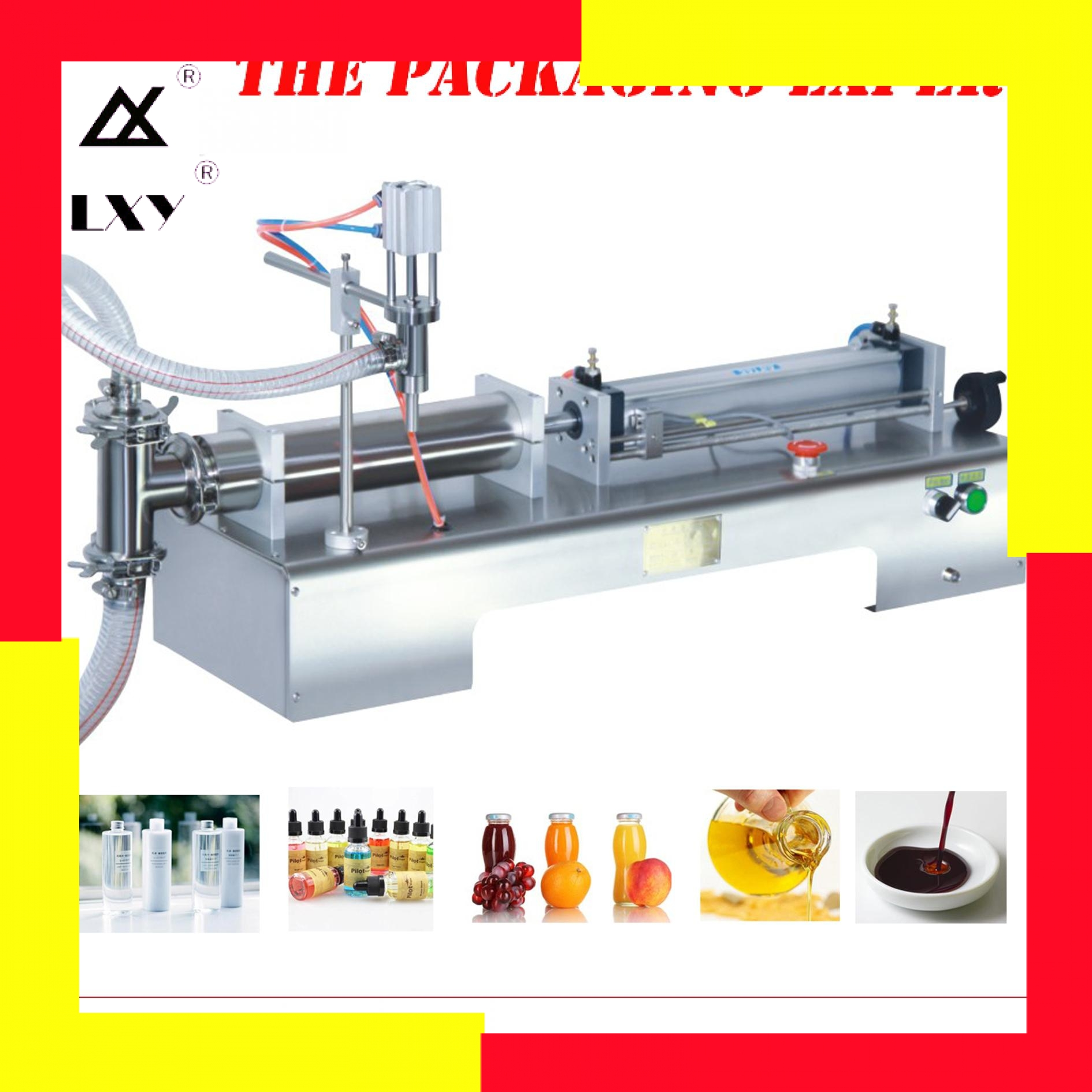 Detergent Filling Machine Pneumatic Piston Liquid Filler Shampoo Water Wine Milk Juice Vinegar Coffee Oil Drinking Free Shipping