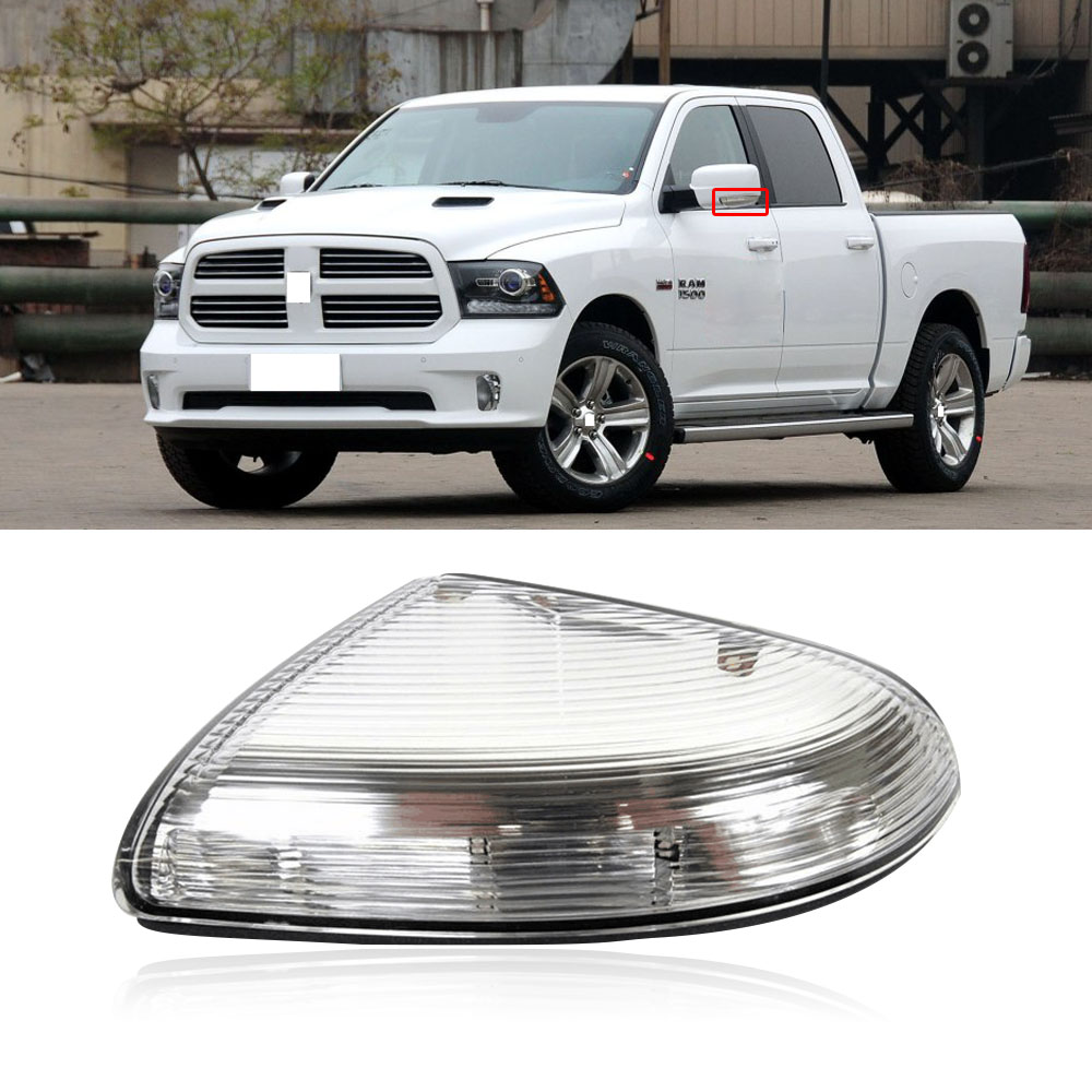 CAPQX 1Pcs For For Dodge Ram Mopar Side Rearview Mirror LED Turn Light Rear View Mirror Indicator Lamp Signal Light