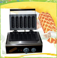new 6 moulds per time electric stainless steel french muffin hotdog waffle maker
