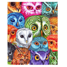 5D DIY Diamond Painting Owl Full   Embroidery Animal Cross Stitch Picture Rhinestones Mosaic Home Decor Gif 3d diy diamond painting horse picture mosaic 5d cross stitch full square diamond embroidery kits animal painting home decor