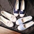 Весна Свет Холст Обувь Женщины Плоские Туфли Туфли-Корейский Прилив студенты Simple Все Матч Квартиры Повседневная Обувь 5 Цвета Плюс Размер 40