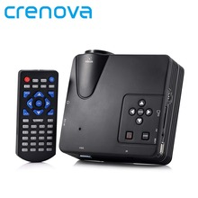 Crenova H80 Portable Mini LED LCD HomeTheater Game Projector Support PC Laptop Full HD 1080P Video With AV/VGA/USB/SD/HDMI