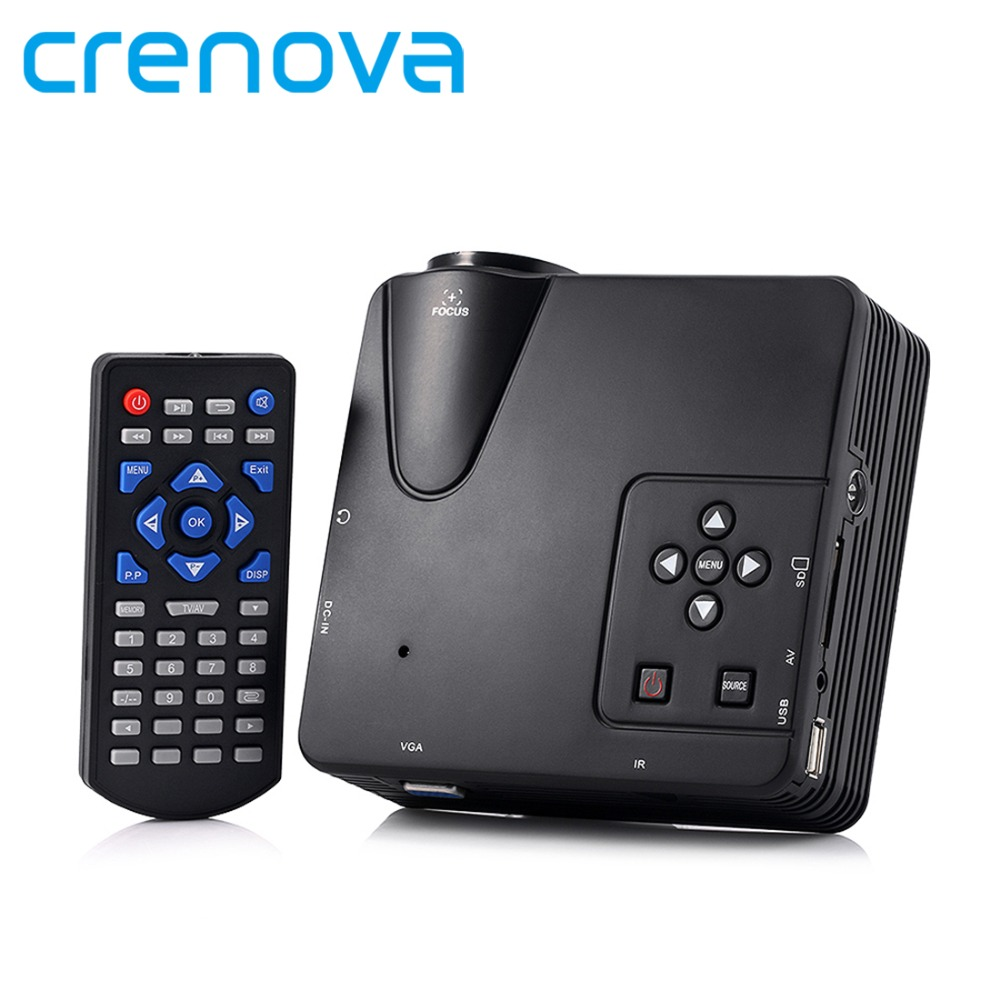 Crenova h80 portable mini led lcd hometheater game for Small projector for laptop