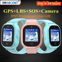 TD06S GPS Phone Positioning Fashion Children Watch Waterproof Color Touch Screen SOS Baby Smart Watch Boys Girls GPS watch