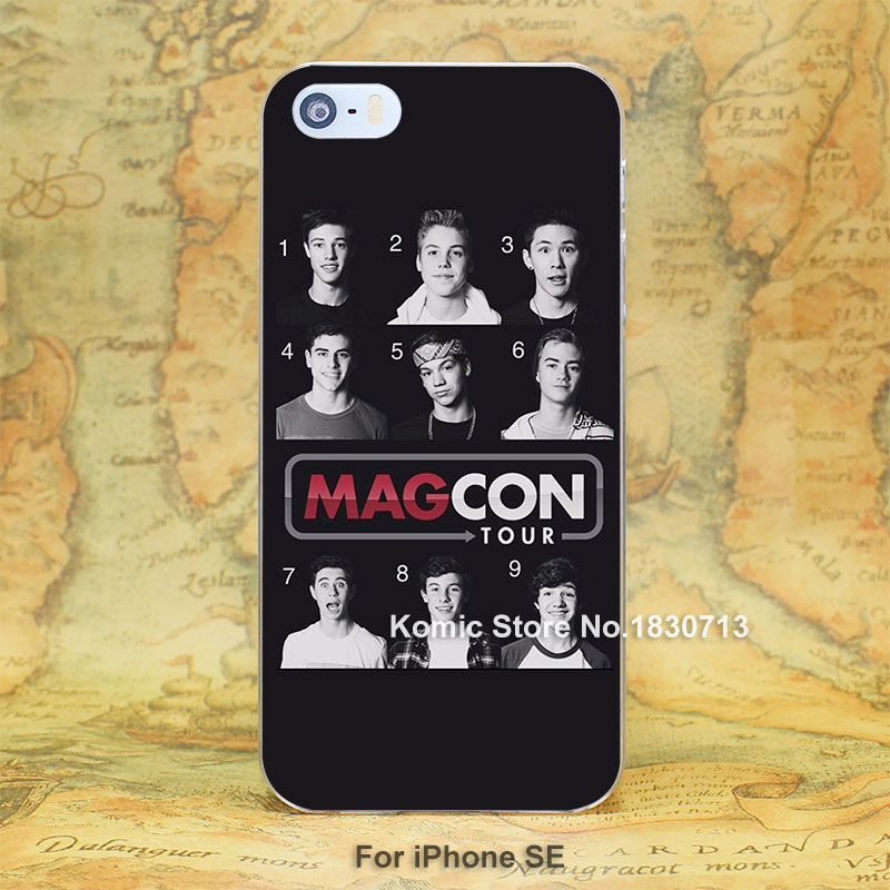 Magcon Boys Durable hard transparent clear Cover Case for iPhone SE 4 4s 5 5s 5c 6 6s Plus