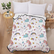 Cute unicorns Blanket for Beds Thin Quilt Bedspread 150x200cm Fleece Throw Blanket for kids все цены