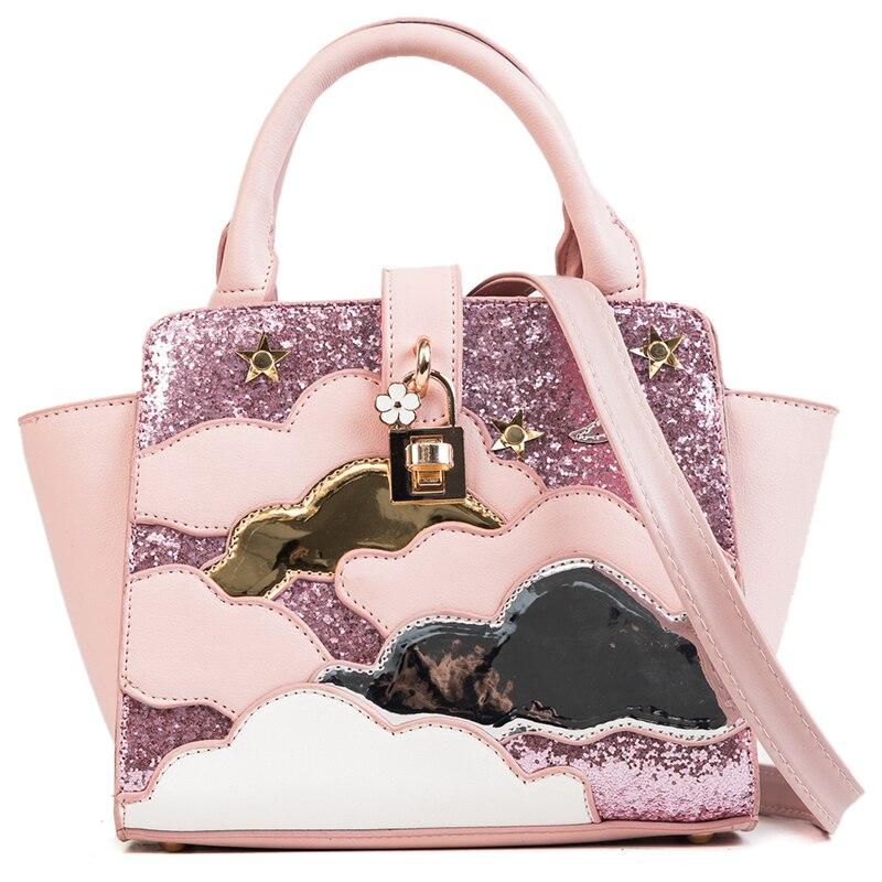 Moon, Messenger, Shoulder, Female, Bag, Handbags