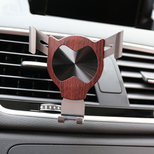 E-FOUR Car Metal Phone Holder Aluminum Alloy ABS+PC Gravity Automatic Control Support Stand Air Outlet Clip Cars Accessory