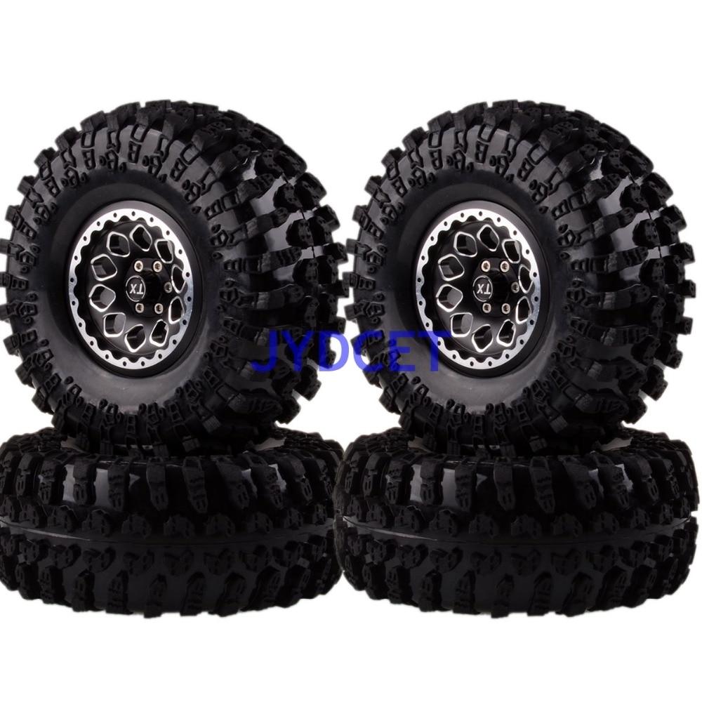 2021-3021 Aluminum 2.2 Beadlock Wheels Rims & Super Swamper Rocks Tyre 125mm 4pcs For RC 1/10 Climbing Rock Crawler 2pcs 2 2 metal wheel hubs for 1 10 scale rc crawler car nv widen version outer beadlock wheels diameter 64 5mm width 43 5mm