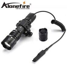 AloneFire TK104 크리 어 L2 LED 전술 줌 총 손전등 권총 권총 야외 사냥을위한 Airsoft 토치 라이트 램프