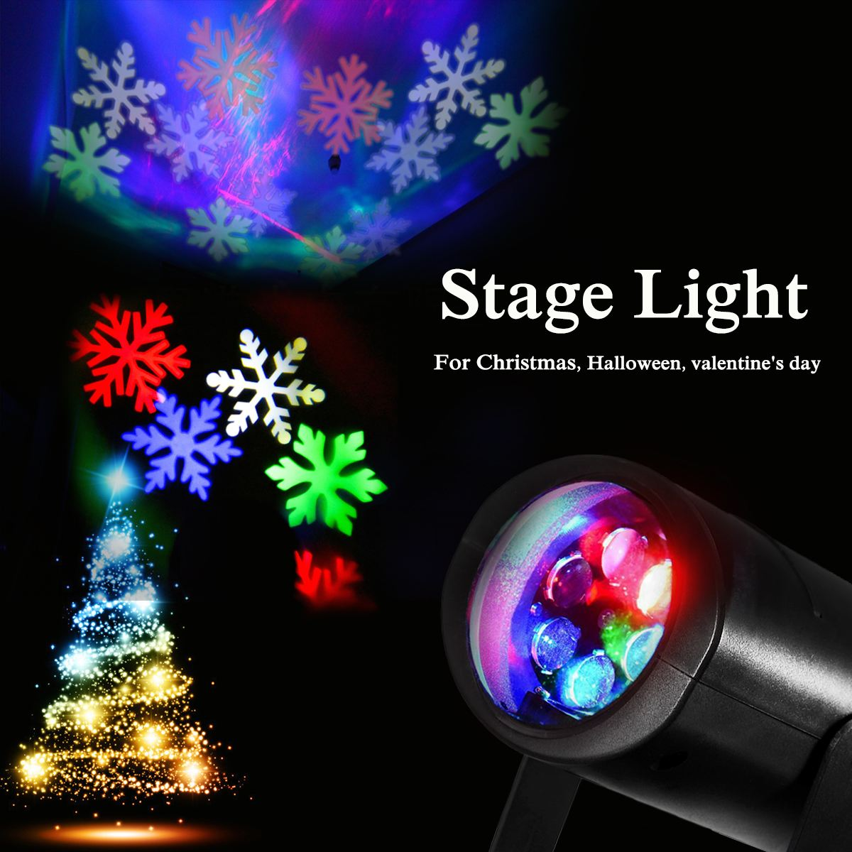 RGB LED Laser Projector Lamps Stage Light Heart Snow Spider Bowknot Pattern Halloween Christmas Party Garden Indoor Lighting 96 pattern 9w black led rgb projector
