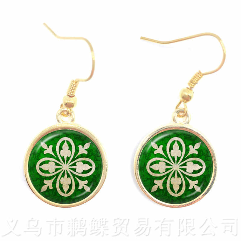 2018 New Handmade Celtic Earrings Art Glass Dome Vintage Mandala Boho Drop Earrings For Women Nice Gift