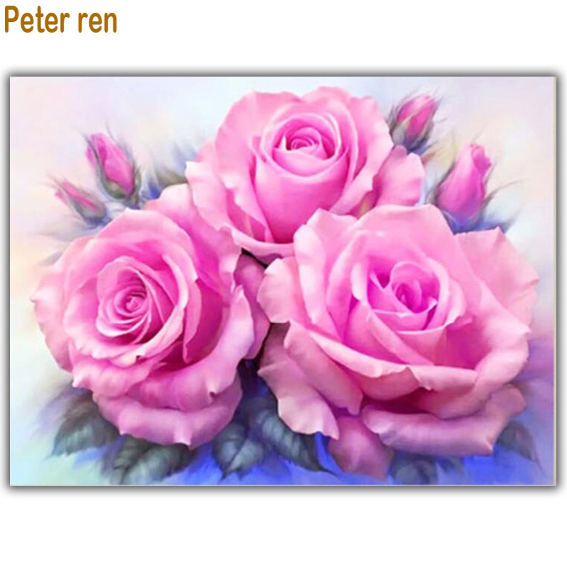 Volledige boor diamant mozaïek bloemen diamant borduurwerk rozen - Kunsten, ambachten en naaien