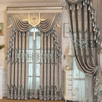 KeQiao curtain The sitting room the bedroom chenille curtains An embroidered curtain cloth Spot wholesale