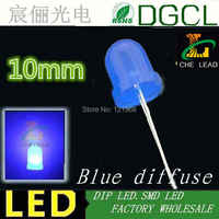 Hot sale 10mm Round led 465-475nm Blue diffused led 3.0-3.5V 2-PIN light diode