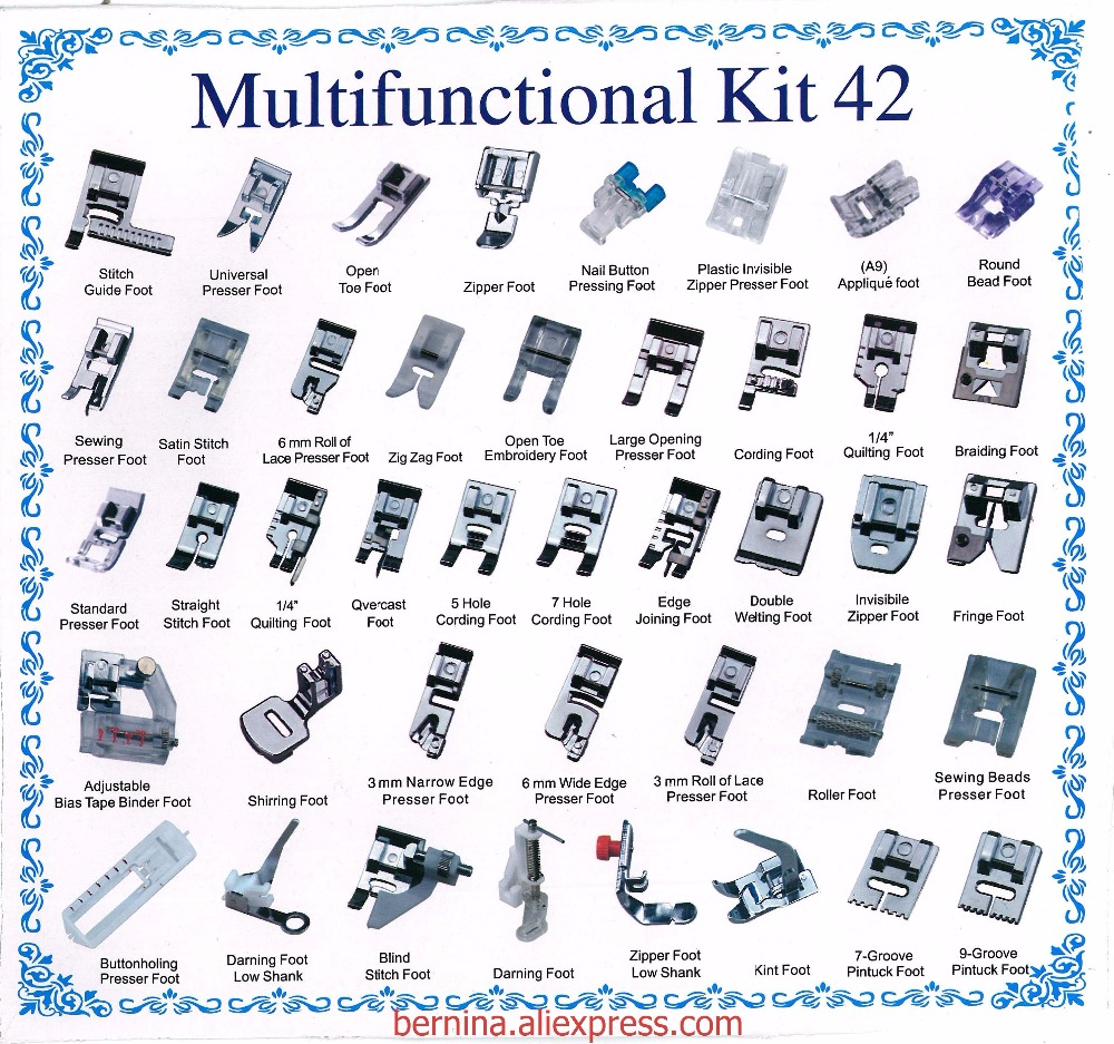 31b72e21a2402 متعددة الوظائف كيت 32 42 52 قدم كوى القدم آلة الخياطة المحلية ملحقات ...