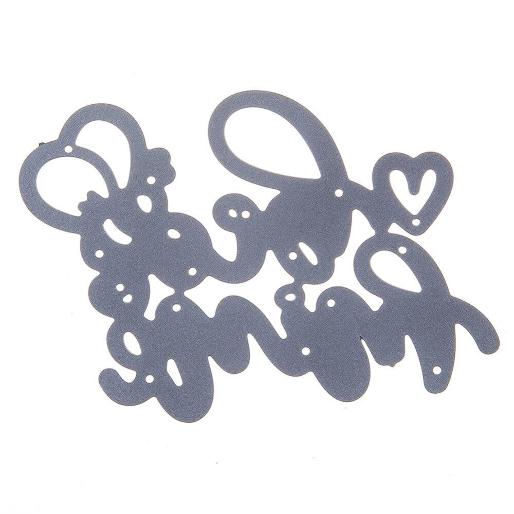 70*54mm scrapbooking DIY heart Little bee balloon Shape Metal steel cutting die love Shape Book photo album art card Dies Cut