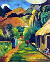 Paul Gauguin paintings of Street Scenery modern impressionism art High quality Hand painted