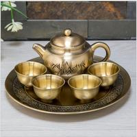 6 Pieces/set european metal tea sets teapot set english tea set teaware for room decoration CJ008