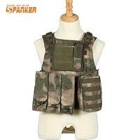 VT-002 장난감 총 전술 육군 사냥 조끼 통기성 내구성 전투 CS 필드 게임 교육 남성 몰리 캐리어 조끼 양복 조끼