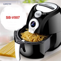 220V Non-stick LCD Electric Fryers Without Oil And No Smoking Electric Fryers French Air Frying Machine For Home Using SB-V007