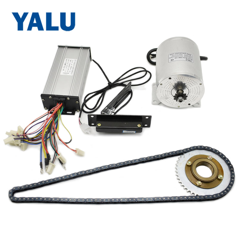 36-72V 500-<font><b>3000W</b></font> Electric Mobility <font><b>Scooter</b></font> Go-Kart BLDC Motor with Dirt Bike Brushless Motor and accelerator foot Pedal Throttle image