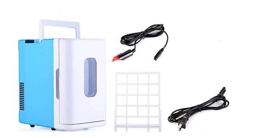 Calore auto Elettrica 12 V Riscaldamento auto Frigorifero del dispositivo di Raffreddamento di raffreddamento + + caldo Compatto Portatile A doppio uso Auto/casa Mini Frigo 12 V 10 L - 2