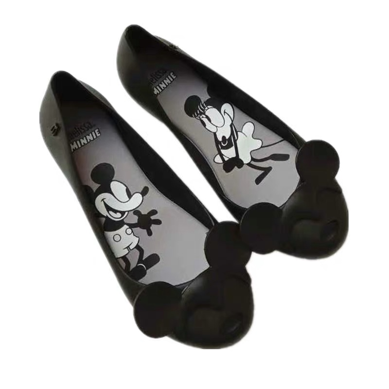 Melissa Shoes Women Mickey Minnie 2019 New Women Flat Sandals Brand Melissa Shoes For Women Jelly Sandals Female Jelly Shoes
