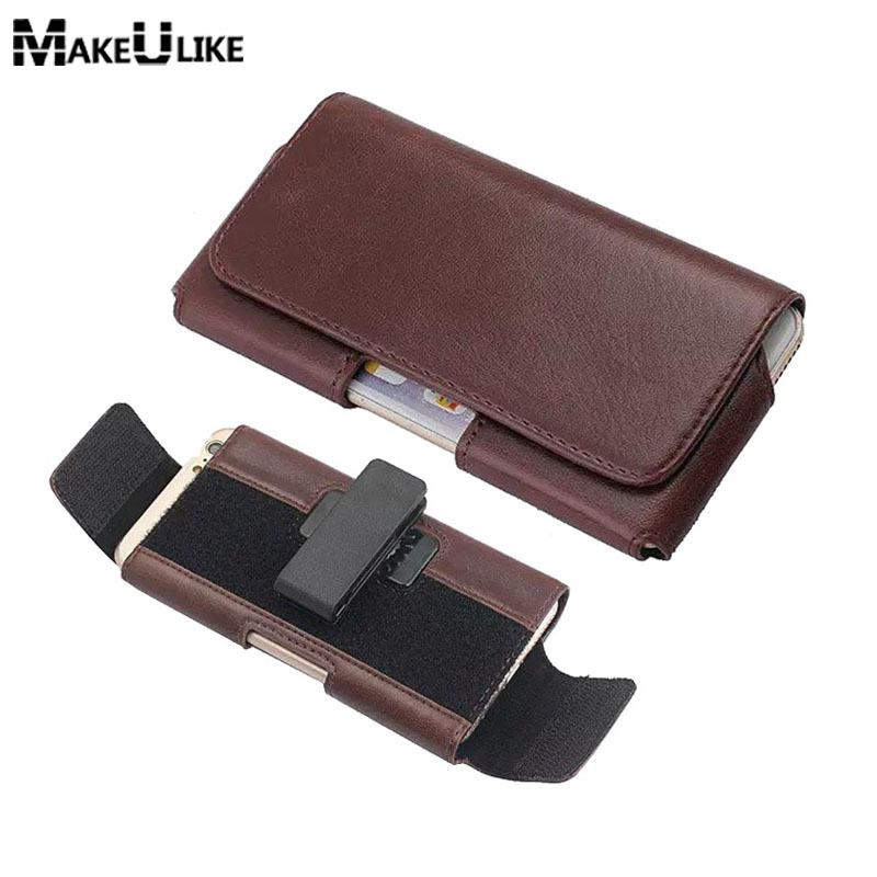 Leather Phone Pouch For Samsung Galaxy S8 S7 Edge Adjustable Belt Clip Universal Phone Bag For Galaxy S7 S6 S6 Edge S5 S8 Case
