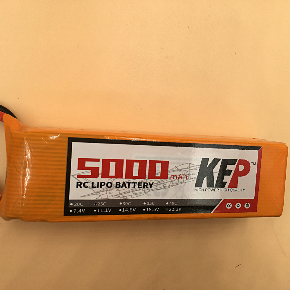 KEP 6S Lipo Battery 22.2v 5000mAh 30C For RC Aircraft Helicopter Drones Car Boat Quadcopter Airplane Li-Polymer Batteria 6S AKKU moseworth 6s rc lipo battery 22 2v 5000mah 60c for rc aircraft airplane car drones boat helicopter quadcopter li ion battery 6s