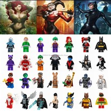 Legoing DC Super Heroes figures Batman Harley Quinn Poison Ivy Catwoman Storm Model Building Blocks Toys for Children Legoing(China)