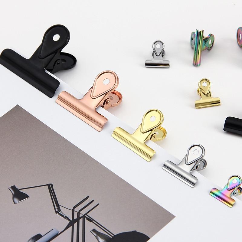 Criativa Multi-color Gold Metal Dovetail Clips Bookmark Paper Documents Organizer Binder Clip StationeryItem For School