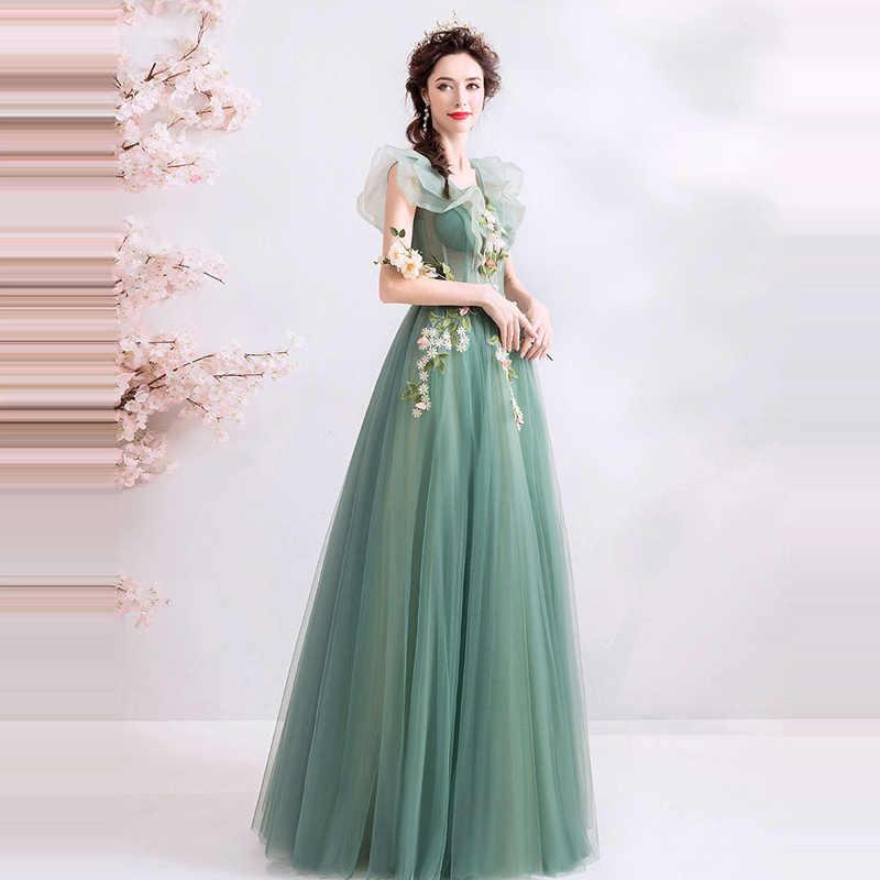 נשף שמלות סקסי שרוולים V-צוואר אלגנטי ארוך שמלות נשים המפלגה לילה Vestidos דה גאלה מותאם אישית בתוספת גודל לנשף שמלת 2019 e240