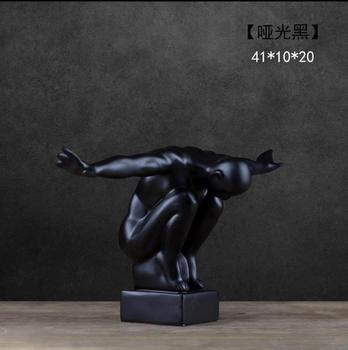 Modern figure figurine abstract art liberty sculpture resin athlete statue home decoration handicraft human medical model displa