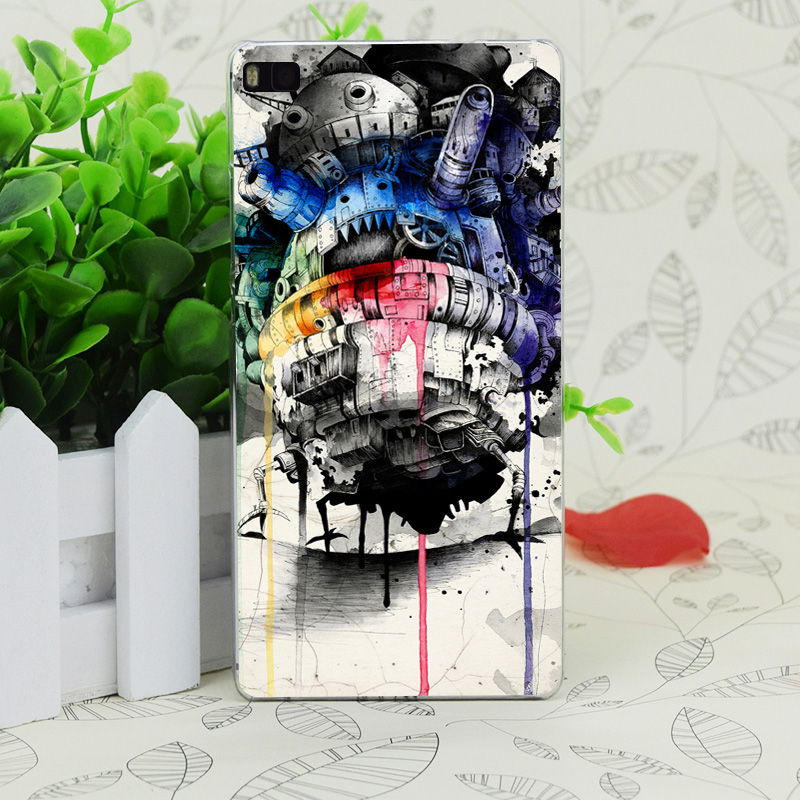 C4292 Howl S Moving Castle Transparent Hard Thin Case Skin Cover For Huawei P 6 7 8 9 Lite Plus Honor 6 7 4C 4X G7