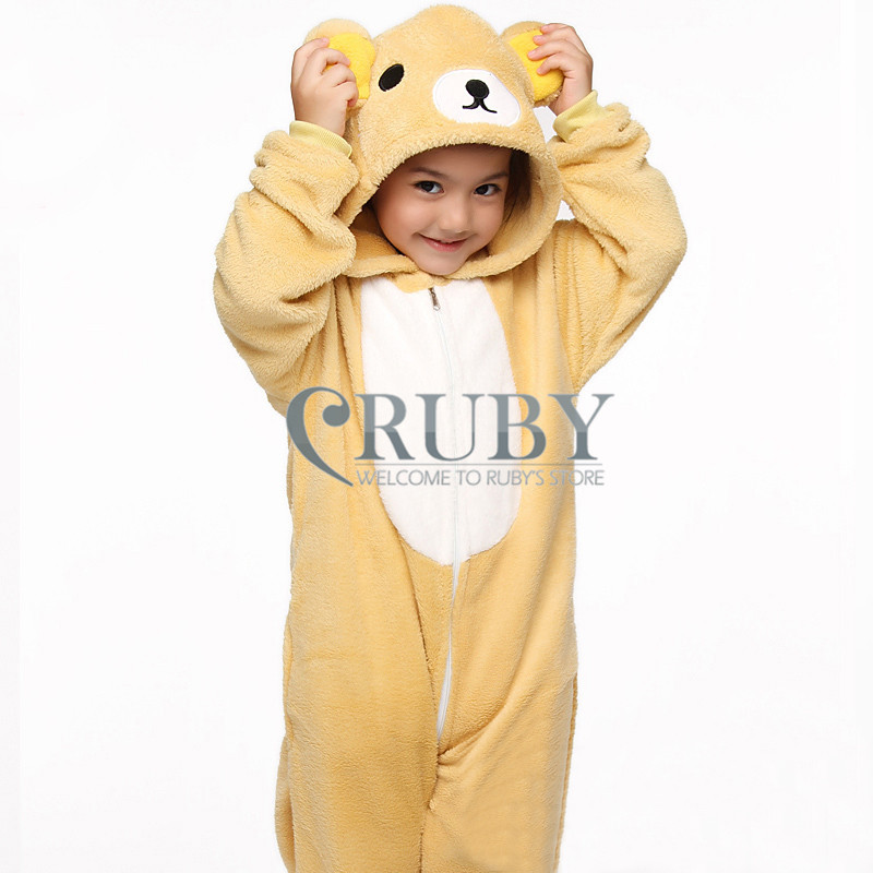 Unisex Children's Fashion Onesies Cosplay Costumes Animal Pajamas Christmas Gift Kids Cartoon Cute Pyjamas Children,Bear - RUBY TOP 2 store
