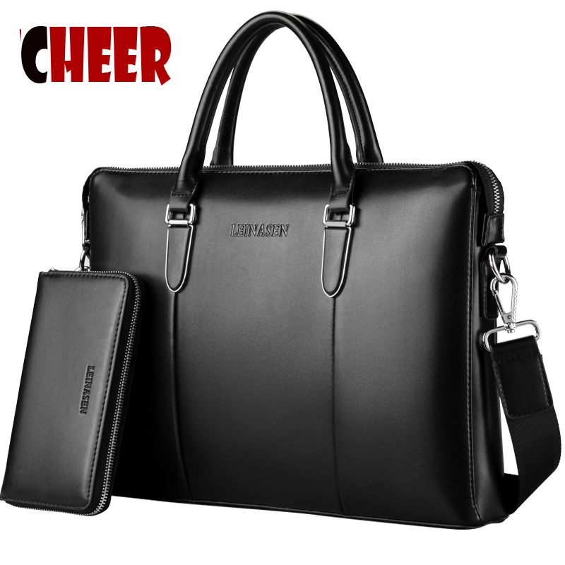 ФОТО 2017 new fashion men bag men handbag made pu leather Shoulder bag messenger briefcases bags designer handbags high quality