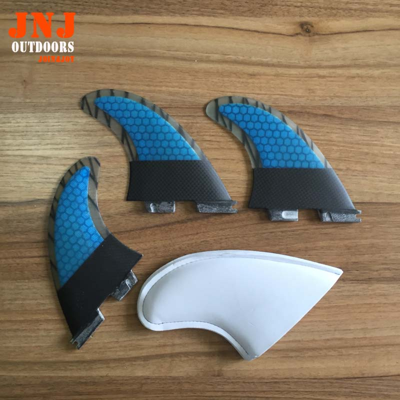 FCS II fins with fiberglass honey comb material for surfboard FCS 2 fin 002 size M