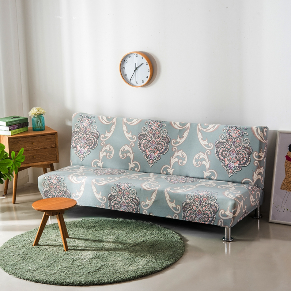 Delightful Europe Flowers Armless Couch Sofa Covers For Living Room Polyester Removable  Machine Washable Slipcovers For Home Decoration In Sofa Cover From Home ...