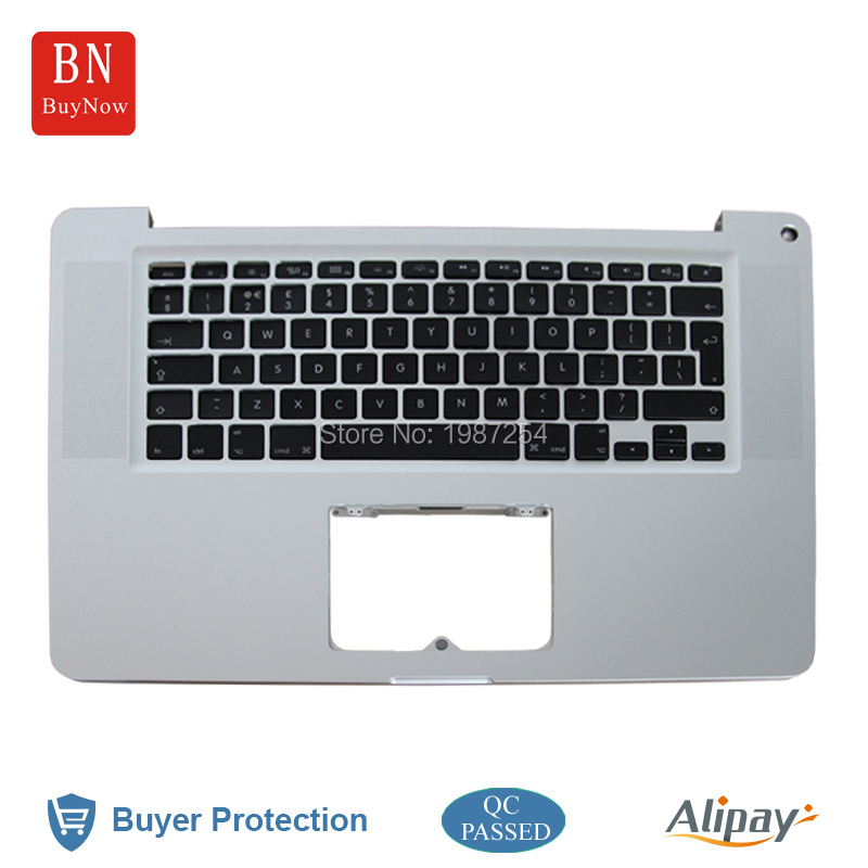A1286 Top Case For Apple Macbook Pro 15 A1286 Palmrest Top Case With Keyboard For 2011 UK Version MC721 MC723 MD322