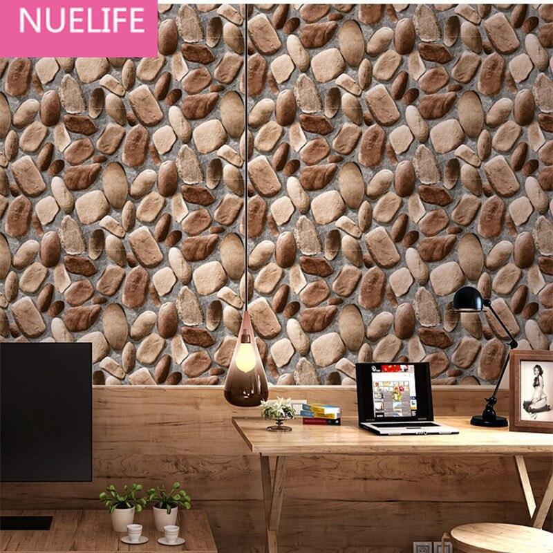 0.53x10m  retro  brick pattern personality thickening waterproof PVC wallpaper living room bedroom clothing store  wallpaper N12