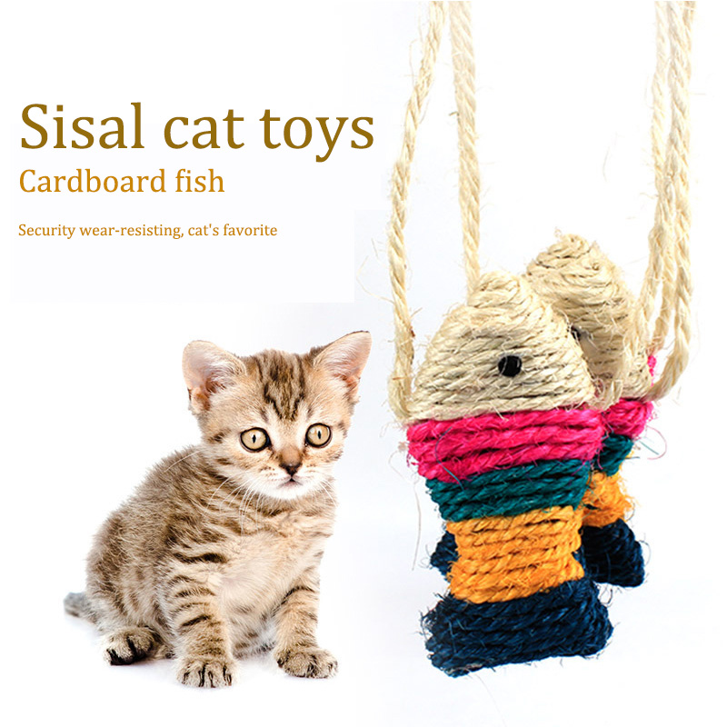 Pet supplies sisal cat toys cardboard fish cat toy free shipping