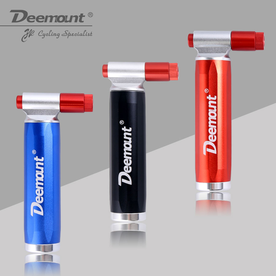 Deemount Bicycle CO2 Pump for 16 Gram Non Threaded Cartridge Bike Tire Ball Portable Inflator Dual Head Presta Schrader Valve