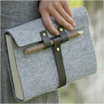 цена MaoTu Handmade Vintage Felt Fabric Bullet Journal Diary Book A5 Notebook Notepad Blank Paper Sketchbook Office School Gift онлайн в 2017 году