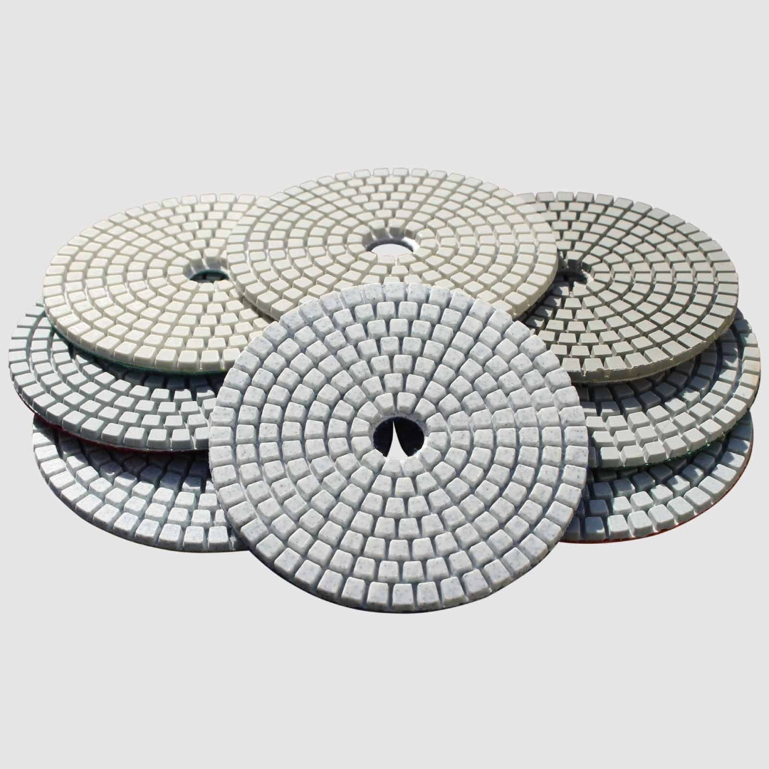 15pcs 4 Wet / Dry Diamond Polishing Pads Wheel Set Granite Stone Concrete Marble Disc Grinding Power Tool Mayitr